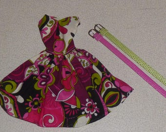 Set of OOAK handmade dress and belts for Fashion royalty, Barbie, Silkstone