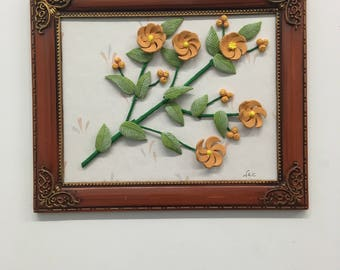 Orange flower setting