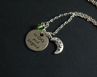 To infinity and beyond Toy story inspired necklace