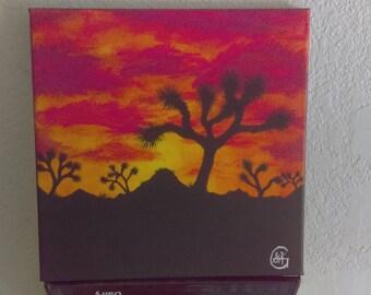 Desert sunset original art