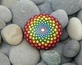 Mandala Stone - Chakra Stone -Hand-Painted Meditation Mandala Rock - Home Decor - Mandala Art - Boho - Rock Art - Paint Rock - Calm - Peace