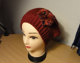 Over size Hat Red with pompons