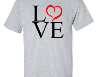 Love Valentine's Day Adult Unisex Tshirt
