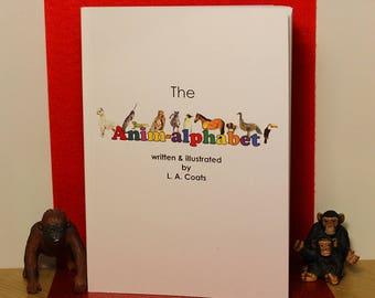 """ABC Children's Book - """"Anim-alphabet""""   Children's Illustrated Book   Unique Book   Alphabet Book"""