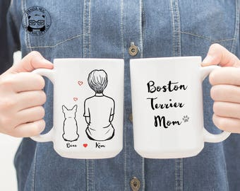 Boston terrier gifts etsy personalized boston terrier mug boston terrier mug boston terrier gift boston terrier mom negle Image collections