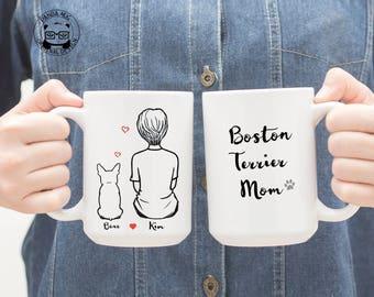 Personalized Boston terrier Mug, Boston terrier Mug, Boston terrier Gift, Boston terrier Mom Gift, Boston terrier Dad Gift