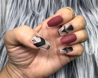 False nails etsy prinsesfo Images
