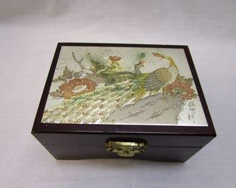 Vintage Japanese Chokin Art Collectible Jewelry Box Trinket Box Ring Box