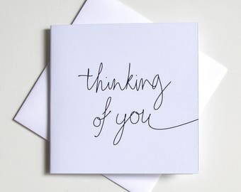 Greeting Card - Mini / Script thinking of you