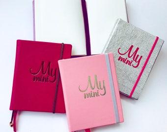 MyMini silver Diary notebook Agenda  diary DIY