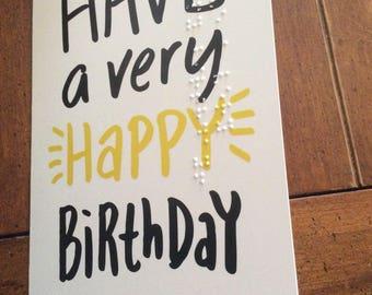 Braille birthday card