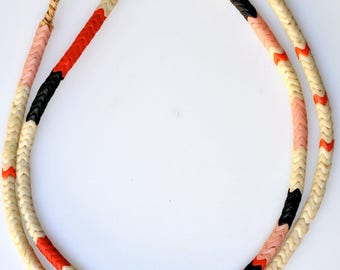 Long 31 Inch Strand of 6mm Mixed French Glass Snake Beads - Vintage African Trade Beads - #SNA512