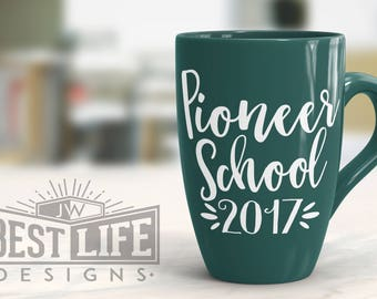 Pioneer School 2017 Vinyl Decal - Script