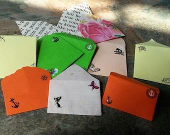Scrapbooking Miniature Envelopes, Smash Book Accessories, Paper Craft Mini Envelopes,Journal Accessories,Miniature Envelopes,Fairy Envelopes