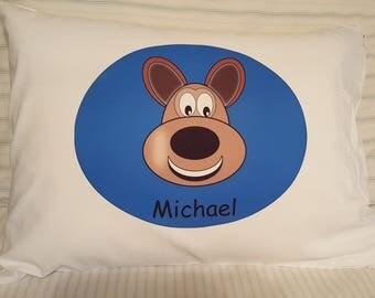 Personalized Kids Zippered Pillowcase - Dog