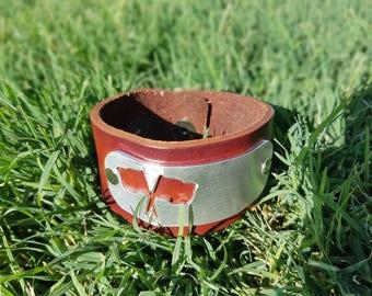 Customizable Leather Cuff Bracelet