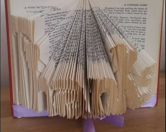 Beautiful 'Thanks' Book Art