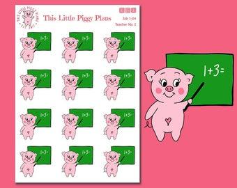 Teacher Oinkers - Teacher Planner Stickers - Back to School Stickers - Teaching Stickers - Planner Stickers - School Stickers - [Job 1-04]
