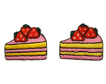 Cake Patches Dessert Patch Applique Embroidered Iron on Patch