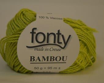 "Bamboo fonty ""bamboo"" green color"