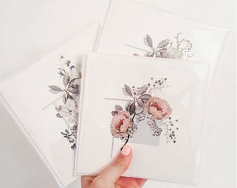 Set of 3 Greeting Cards (3 different designs)