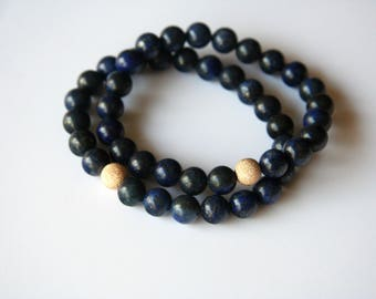 Surya Collection Lapis Lazuli Stretch Bracelet