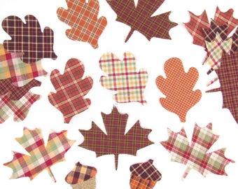 Autumn Leaf Cut Out Appliques - 15pcs - by Jubilee Fabric