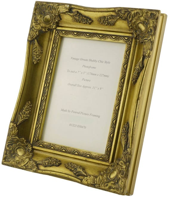 068f3fbfa16 Shabby Chic Ornate Distressed Gold vintage swept picture frame for a ...