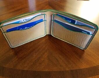 Minimalist, bifold, horween leather, wallet, men's wallet, leather wallet, horween bifold, leather