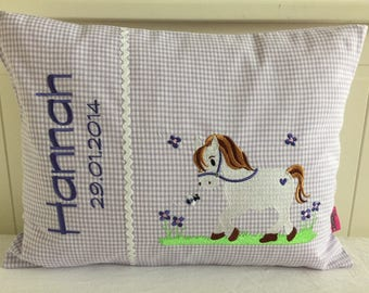 Horse Pillow with Name
