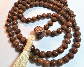 Mala 6mm Tigerskin beads