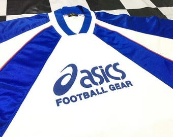 Vintage Asics jersey shirt big logo Size XL Made in Japan Excellent condition