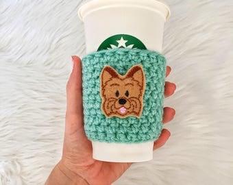 Yorkie Cup Sleeve, Yorkie Coffee Cozy, Yorkie Gift