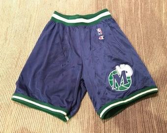 Vintage Dallas Mavericks Champion NBA Shorts