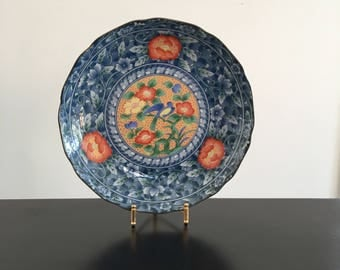 Vintage, Japanese Plate,Oriental Decor, Asian Interiors,Japanese,Plate,Blue Bird,Hand Painted Oriental Plate,Asian,Japanese Porcelain,Japan