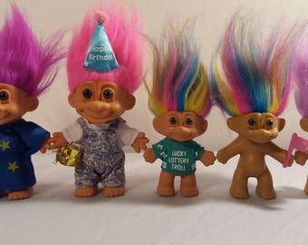 Vintage Russ Troll Doll Lot