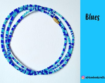 NEW!! Blues - Waist Beads - Belly Chain - Belly Beads - African Waist Beads