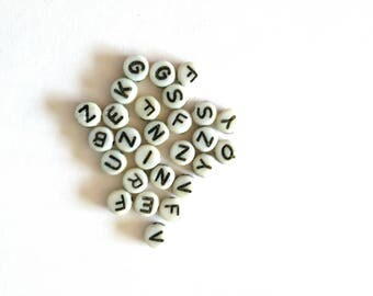 Beads round letters set