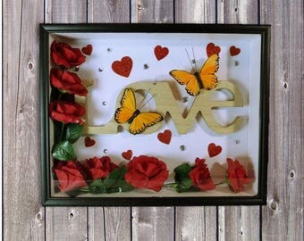 Valentines Live Themed Shadow Box Gift