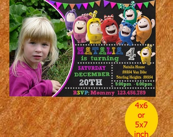 Oddbuds Birthday Invitation, Oddbuds Invitation, Oddbuds Birthday, Oddbuds Party, Oddbuds Printable, Instant Download