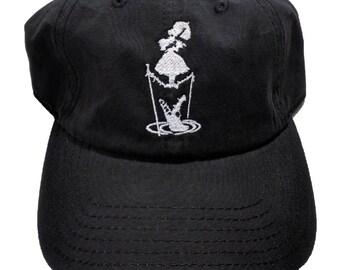 Haunted Mansion Lady Crocodile Washed Cotton Six Panel Hat
