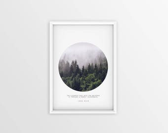 Minimalist landscape, Forest print, forest art, trees, forest fog, nature photography, pillow print, nature prints, Pillow print