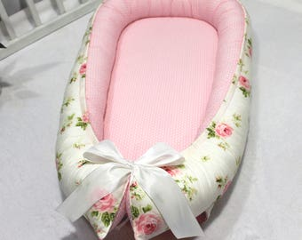 Baby Nest for Newborn Girl, Babynest, Double-sided Snuggle Nest, Co Sleeper, Sleeping Bed, Baby positioner, Baby lounger, Removable mattress