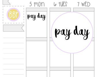 Pay Day Word Stickers (134)
