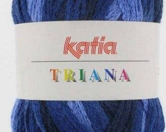 KATIA TRIANA 100GR //43 BLUE GRADIENT WOOL