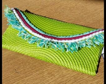 Straw clutch bag/summer handbag
