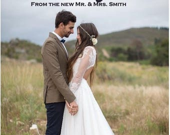 Custom Photo Thank you Notecards Wedding/Mitzvah/Birthday- Printed