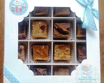 Handmade Crumbly Fudge - Traditional Recipe - Made to Order - Gift Boxed for Someone Special at Christmas