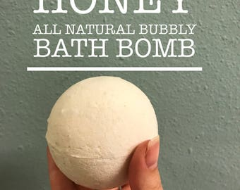 Milk and Honey bubbly Bath Bomb
