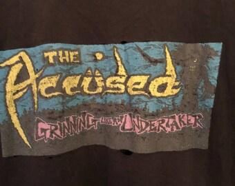 "Vtg 1990 The ACCUSED ""Grinning Like an Undertaker,"" metal, splatterrock, Martha Splatterhead, Seattle, authentic vintage shirt"